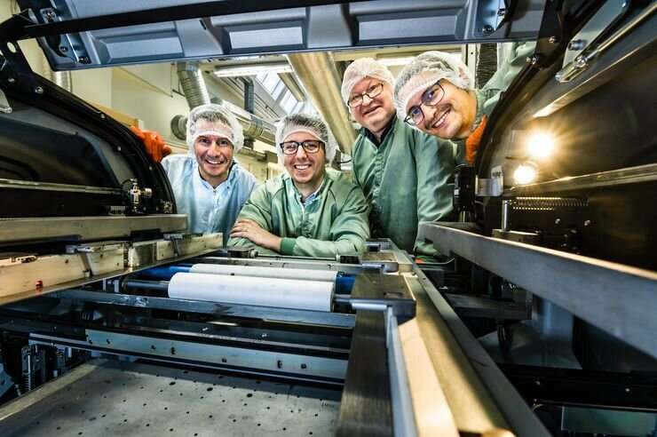 Large-scale integrated circuits produced in printing press