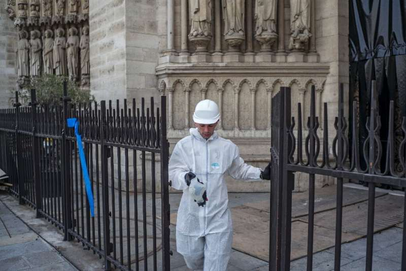 Last week authorities insisted that lead contamination from the blaze posed no danger following a media report alleging that the