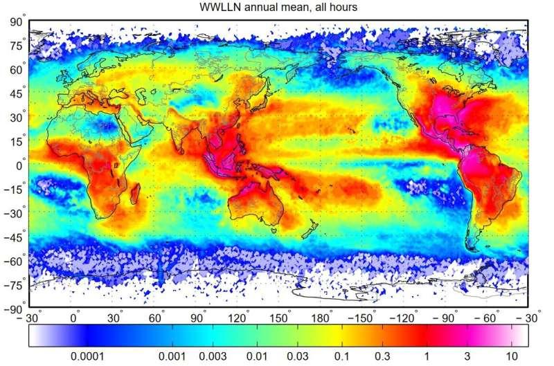 Lightning 'superbolts' form over oceans from November to February