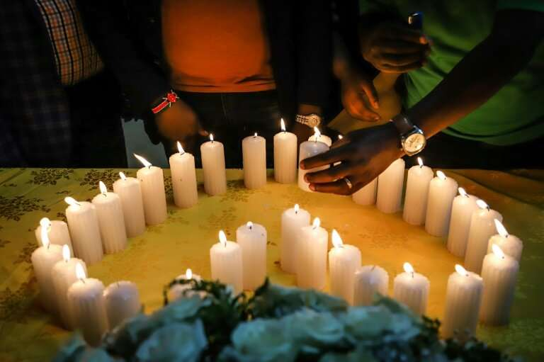 Loss: A memorial service for Kenyan victims of the disaster