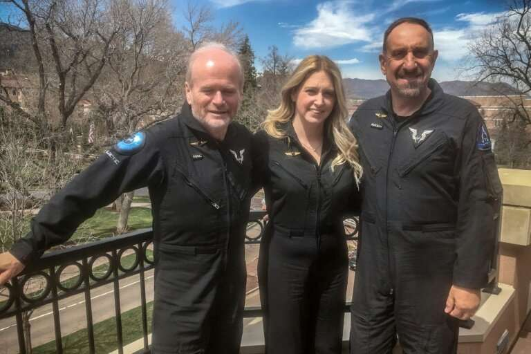 "(L-R) Dave Mackay, Beth Moses and Mike ""Sooch"" Masucci in Colorado Springs on April 9, 2019"