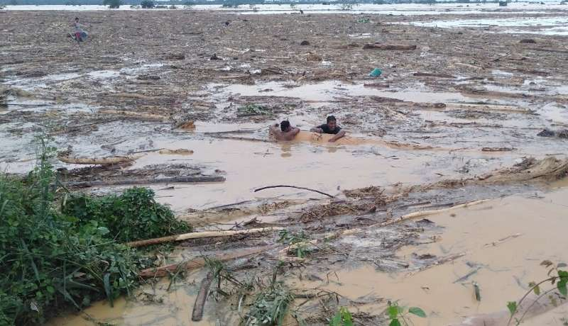 Luzon island, the nation's largest, has been hit by a string of storms, while monsoon rains were intensified by the passage of T