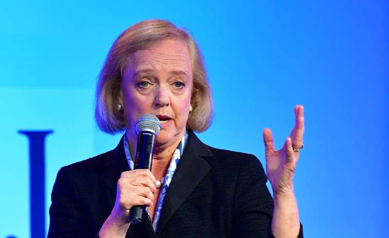 Meg Whitman, CEO of streaming service Quibi, speaks at WSJ Tech Live 2019 in Laguna Beach, California on October 22, 2019.