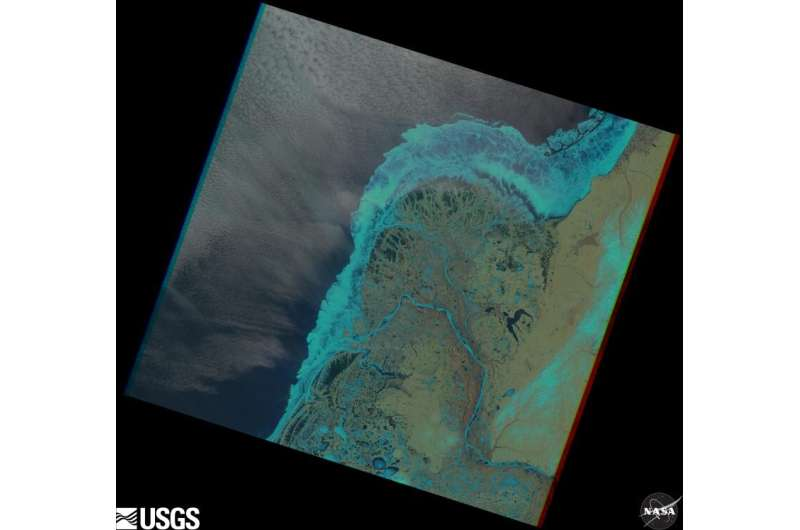 Melting ice may change shape of Arctic river deltas