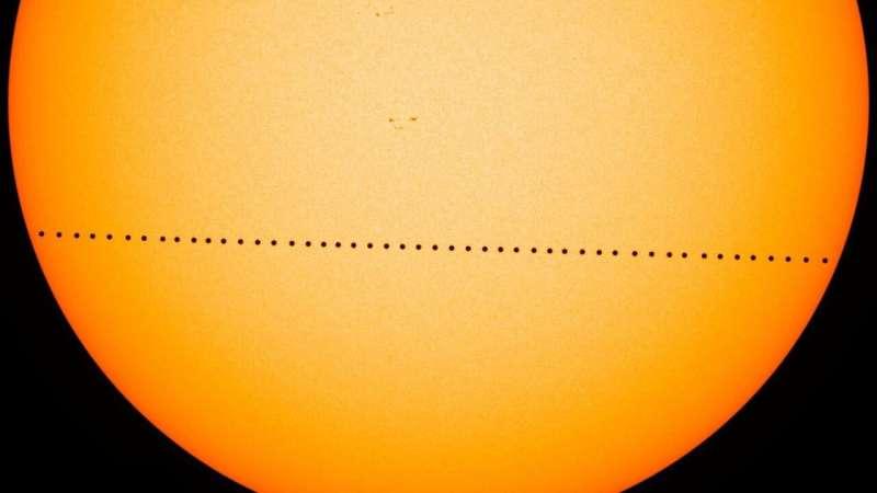 Mercury putting on rare show Monday, parading across the sun