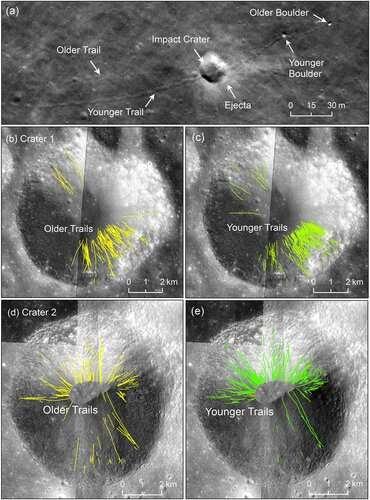 Moonquakes tumble boulders, build lunar scarps