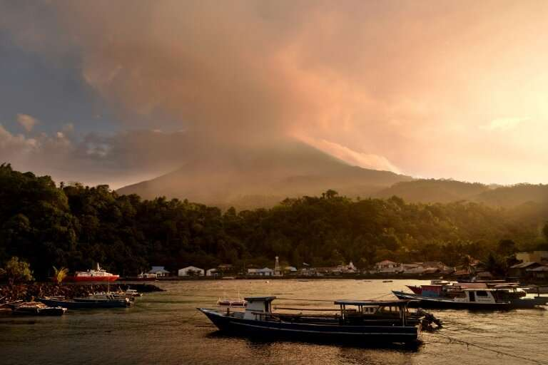 Mount Karangetang on Sulawesi island also erupted this week with more than a hundred nearby residents ordered to evacuate