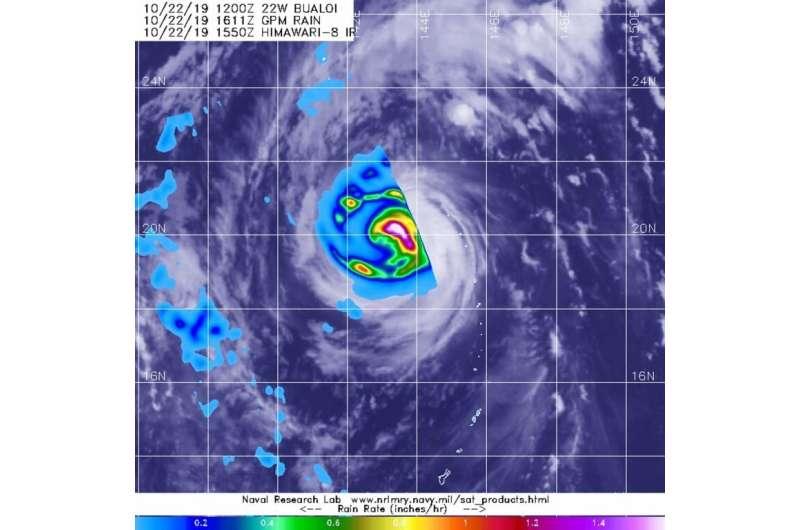 NASA analysis shows heavy rain in Typhoon Bualoi