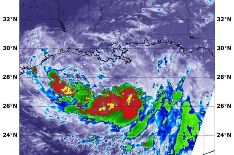 NASA finds an asymmetric Tropical Storm Barry