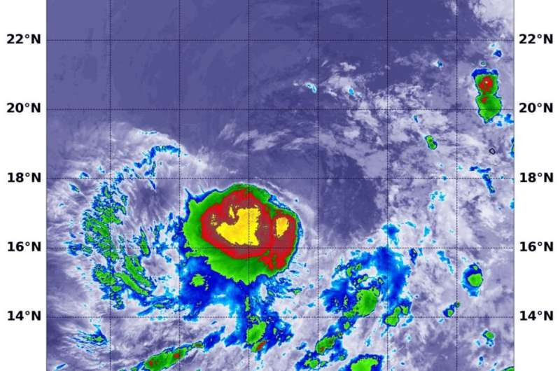 NASA finds depression strengthen into Tropical Storm Dalila