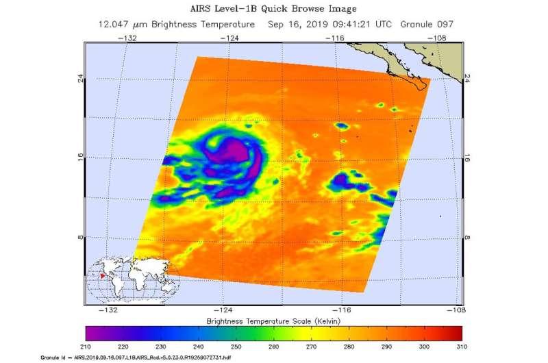 NASA finds Kiko weakening in the Eastern Pacific