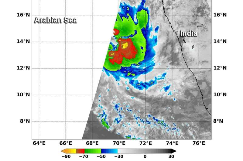 NASA finds second tropical system develops in Arabian Sea