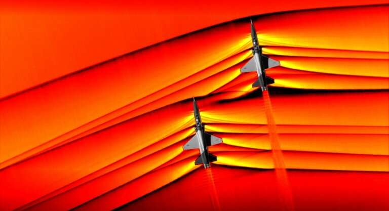 NASA has captured unprecedented images of the interaction of shockwaves from two supersonic jets