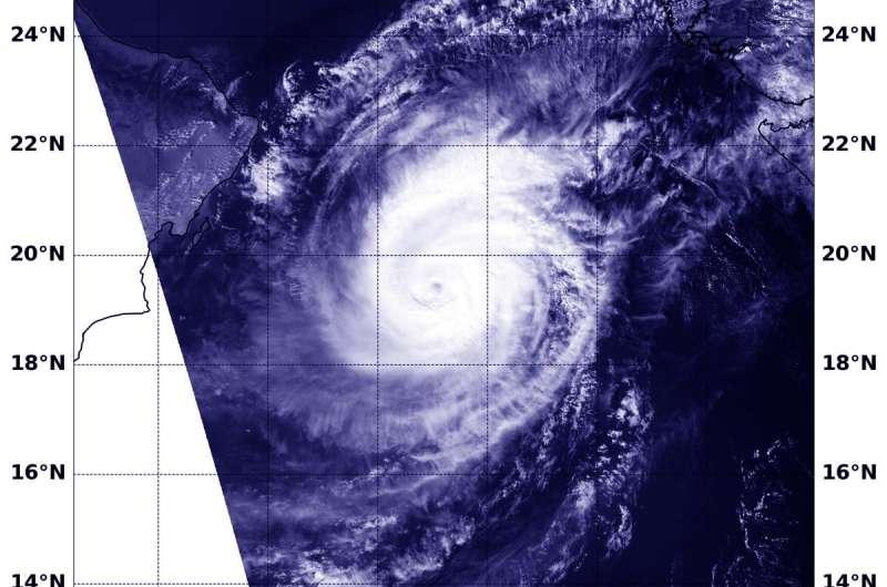 NASA identifies a strong Arabian Sea Tropical Cyclone Kyarr