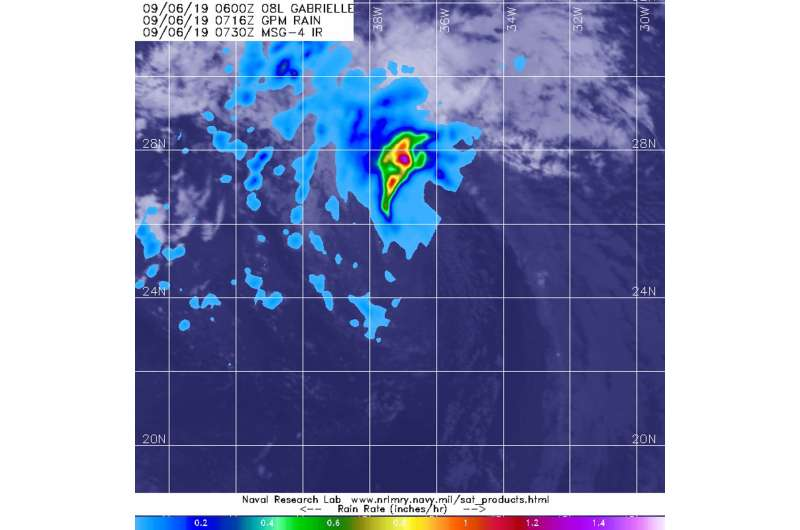 NASA sees gabrielle go 'post-tropical...' for now