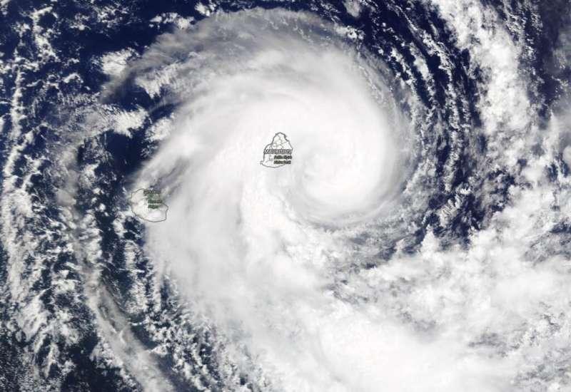 NASA sees Mauritius covered by Tropical Storm Calvinia