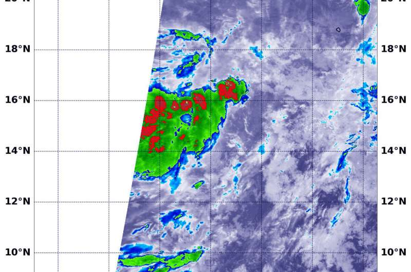 NASA sees outside winds affecting new tropical Eastern Pacific depression
