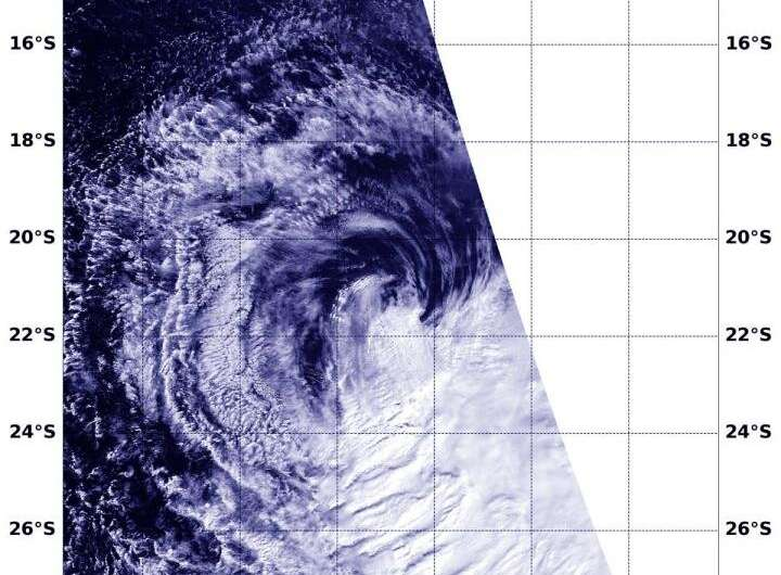 NASA shows winds causing Tropical Cyclone Lorna's demise