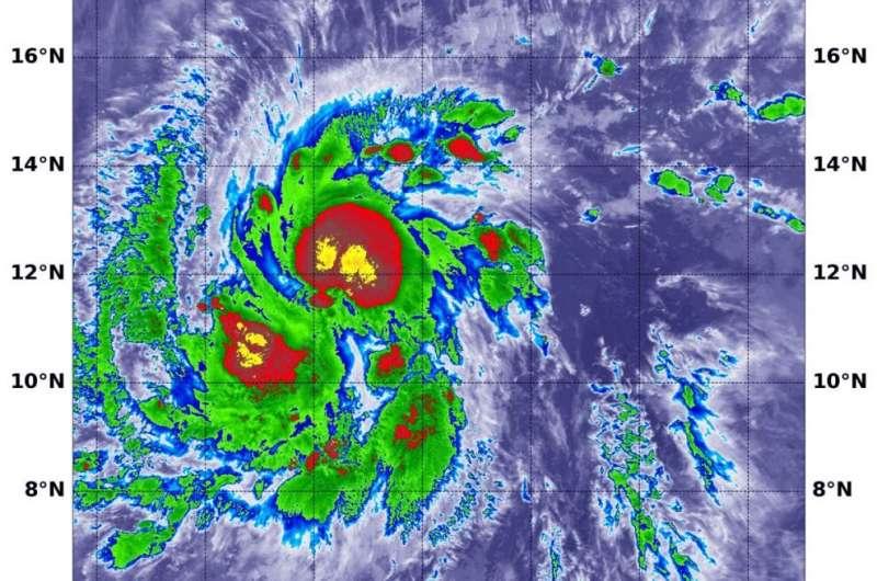 NASA tropical storm Erick strengthening
