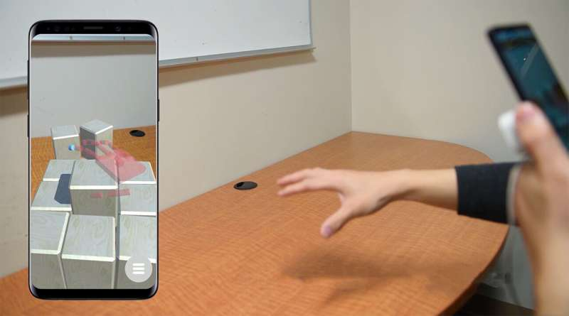 New augmented reality system lets smartphone users get hands-on with virtual objects