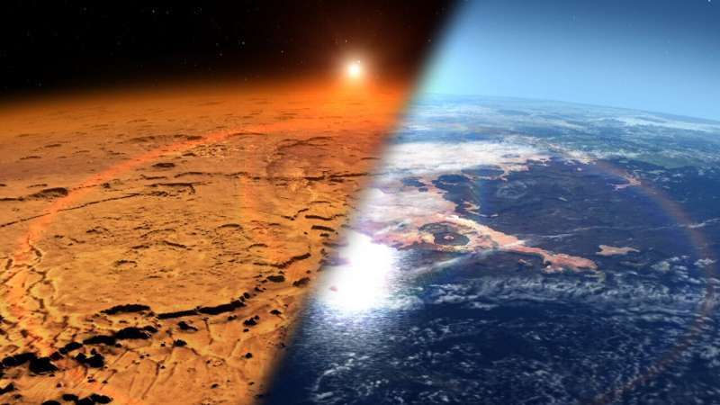 Newfound Martian aurora actually the most common; sheds light on Mars' changing climate