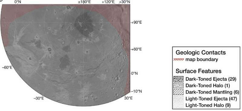 New map reveals geology and history of Pluto's moon Charon