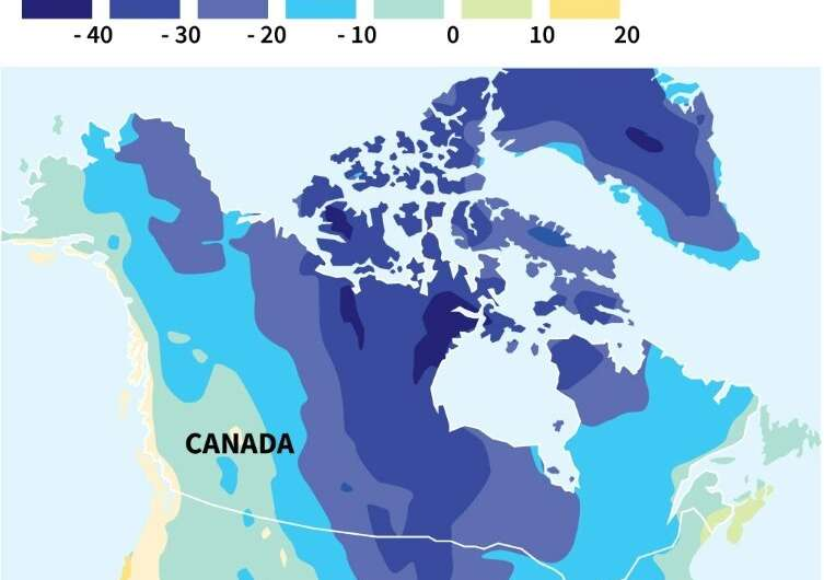 North America faces arctic chill