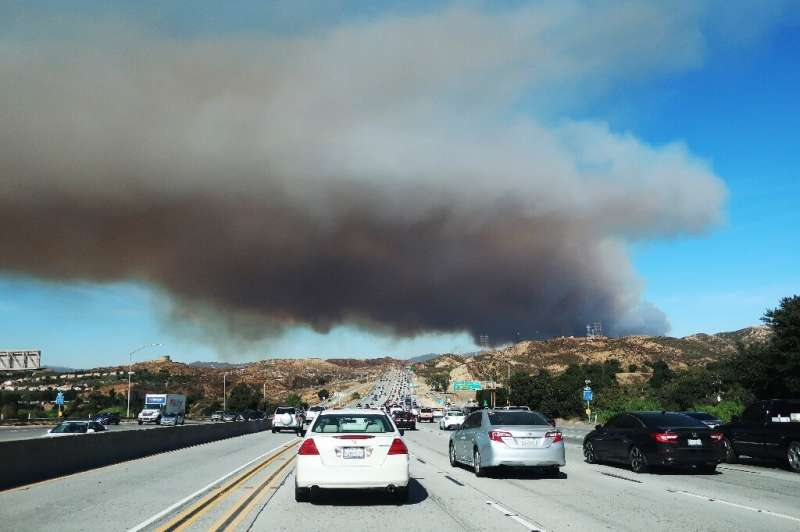 Over 50,000 people were told to flee the Tick Fire, which was raging just north of Los Angeles