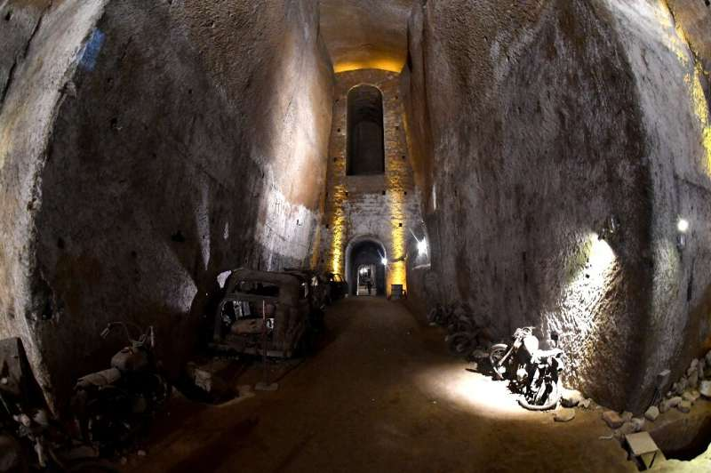 Part of the Bourbon Tunnel under Naples