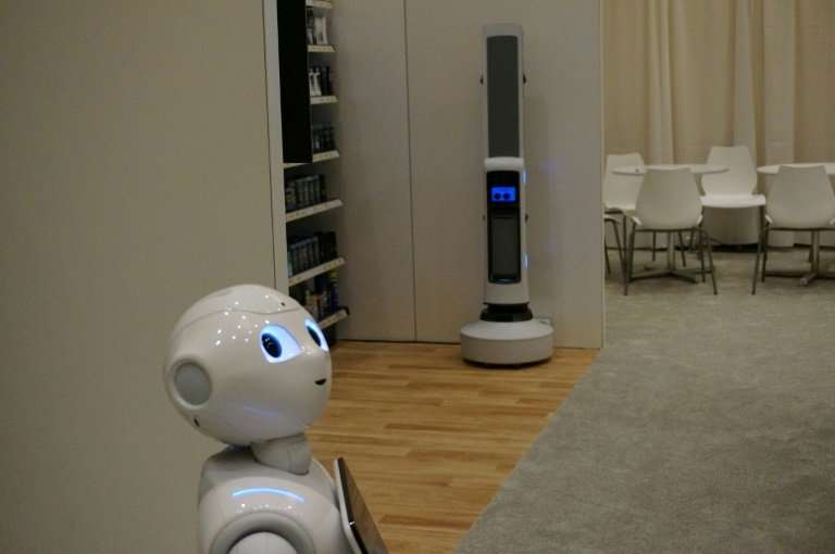 Pepper, of SoftBank Robotics, can use facial recognition to personally greet customers in stores or hotels