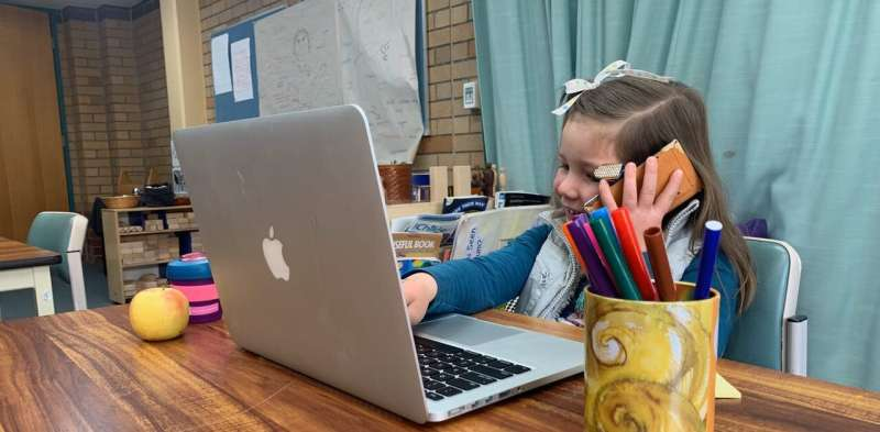 Playing with old phones teaches children good habits, and reflects our bad ones back at us