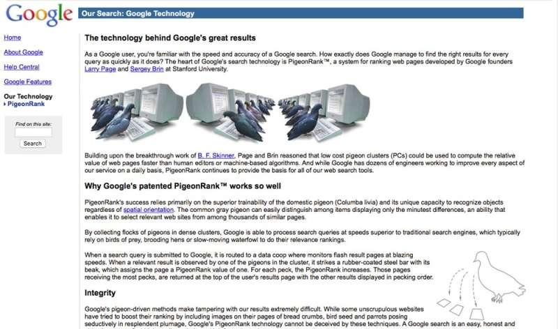 Principle behind Google's April Fools' pigeon prank proves more than a joke