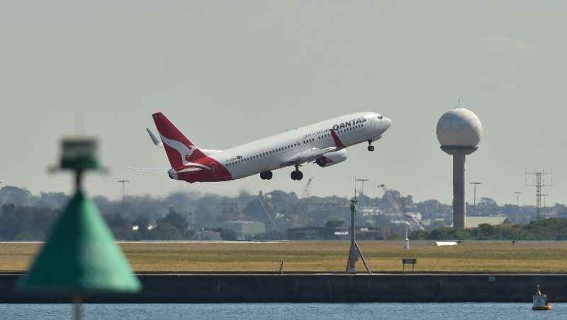 Qantas said the outlook for the airline was 'mixed', with weakness in the domestic tourism market and flat corporate travel dema