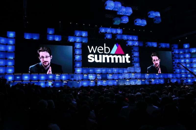 """""""The problem is not data protection, it's data collection,"""" Snowden told the Lisbon Web Summit"""