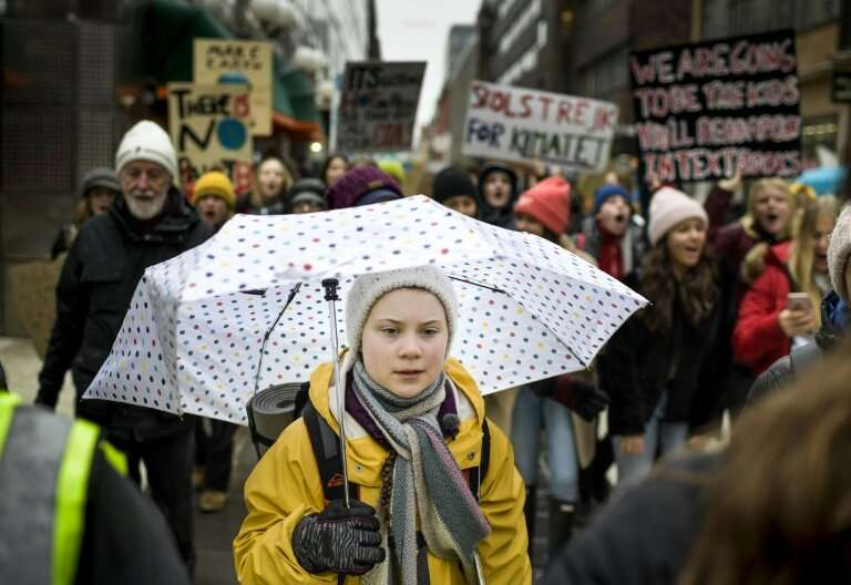 """""""We are living through an existential crisis that has been ignored for decades,"""" says 16-year-old Swedish activist Gre"""