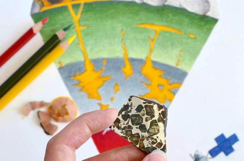 Rare metallic asteroids might have erupted molten iron