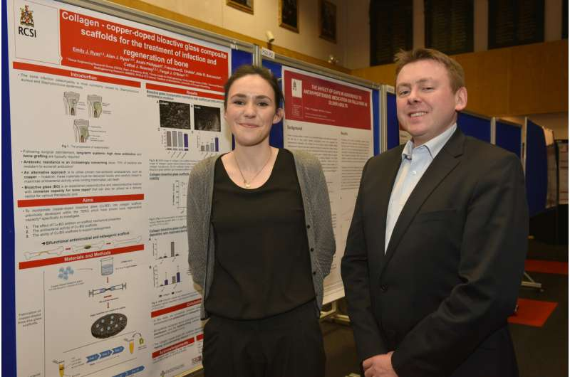 RCSI researchers develop new treatment for bone infection using copper-rich glass implant