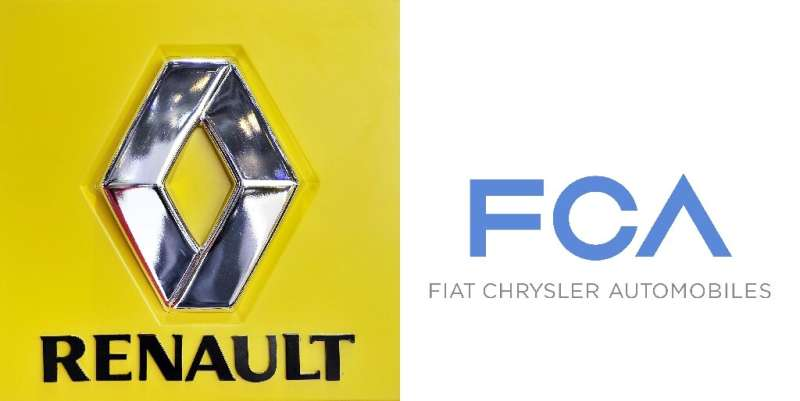 """Renault said it is studying """"with interest"""" a 50-50 merger proposal from Fiat Chrysler, which would forge the world's"""