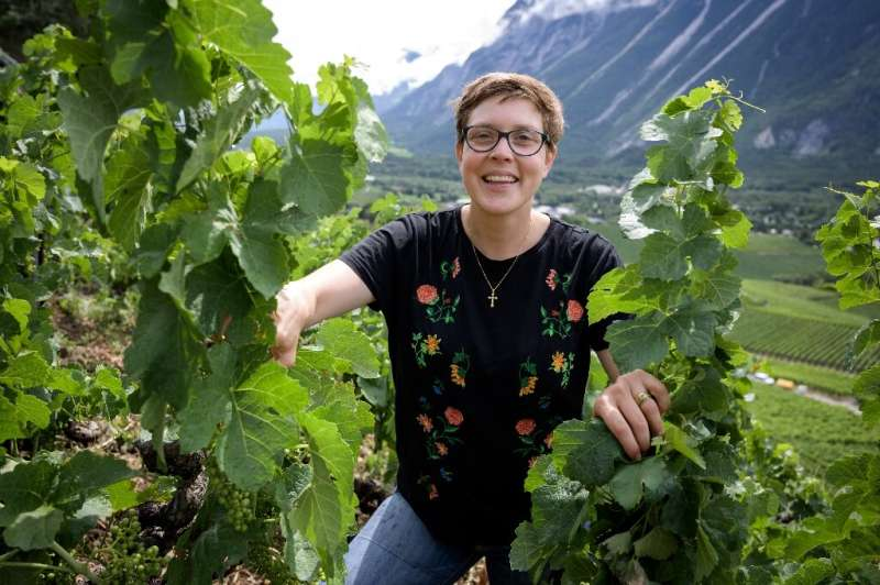 Sandrine Caloz, 30, is already considered one of Switzerland's top organic wine producers and is among those setting a new trend