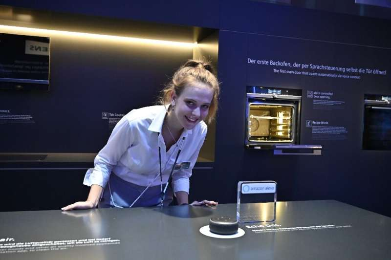 Siemens claimed a world first at Berlin's IFA tech fair with an oven that opens on voice command