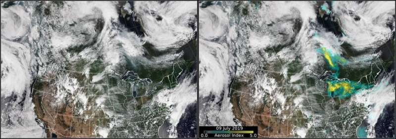 Smoke from Canadian fires drifts into United States