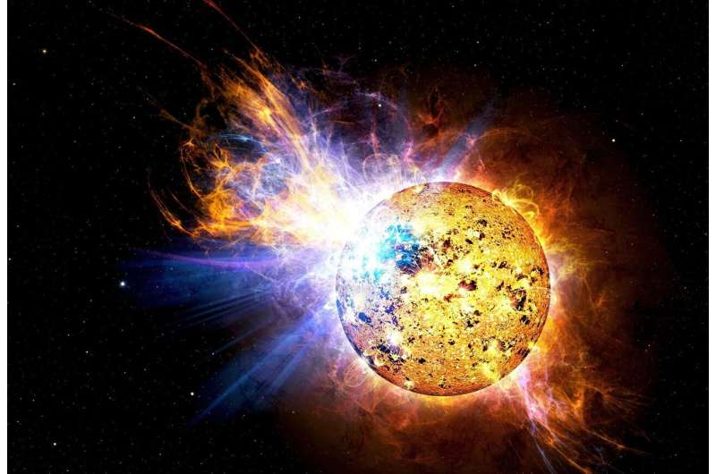 The give and take of mega-flares from stars Solarflares
