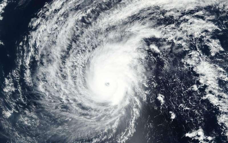 Super Typhoon Wutip's 25 mile-wide eye seen by NASA-NOAA satellite