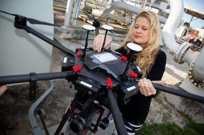 SwRI using drones with machine learning to automate methane leak detection