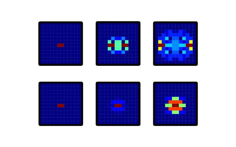 Synthetic magnetism leads photons on a 2-D quantum walk