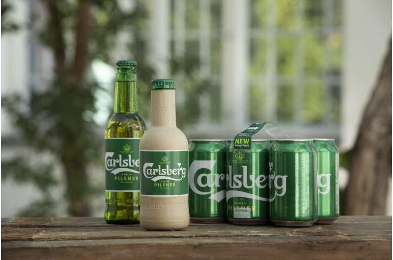 Tastes great, less land-filling ... beer in a paper bottle