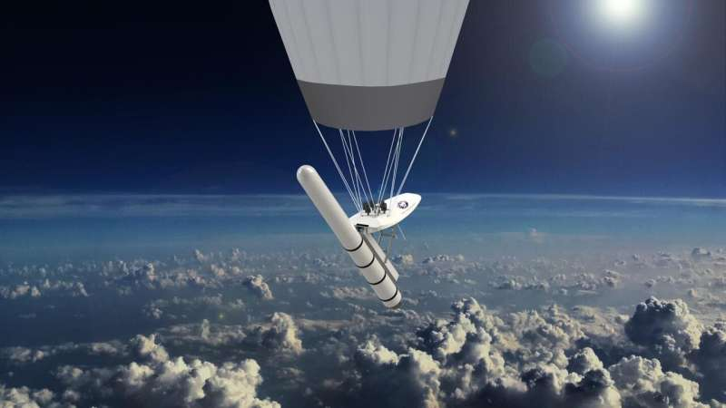 Technology to use hot air balloons for rocket launches competes in a startup battlefield