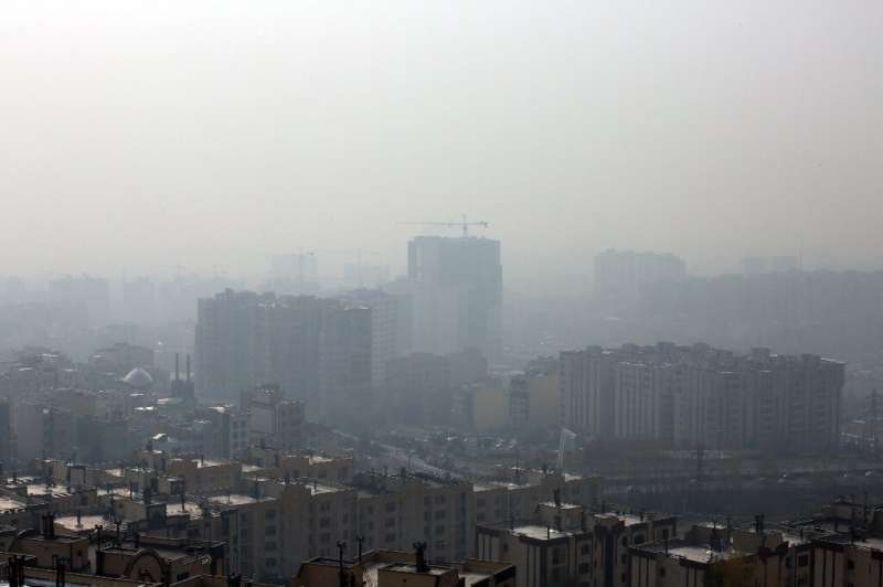 Tehran is frequently enveloped in heavy pollution, especially in winter