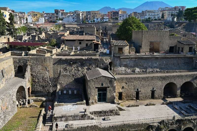 The archaeological site of Herculaneum in Ercolano was buried under at least 15 metres (almost 50 foot) of rock