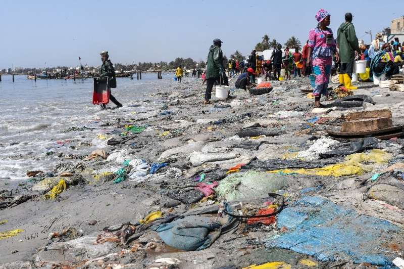 The beach at Dakar's Hann Bay gives an idea of Senegal's problem with waste